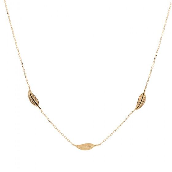 Cadena de oro con hojas - 1
