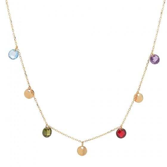 Cadena de oro con piedras de color - 1