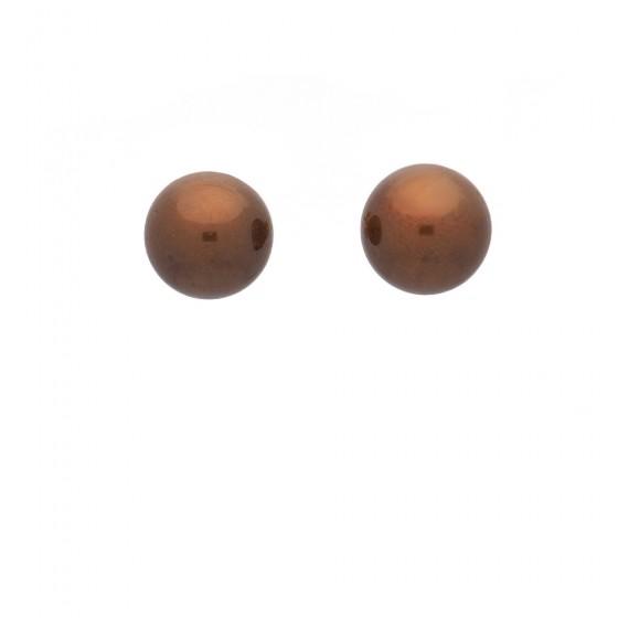 Pendientes con perlas cultivadas brown - 1