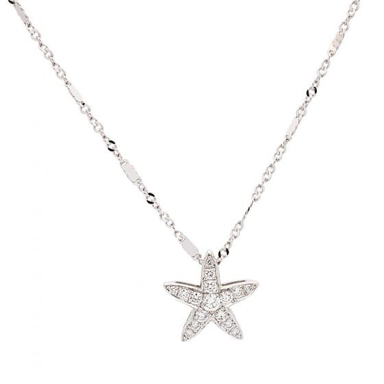 Colgante de oro blanco con estrella de mar y diamantes - 1