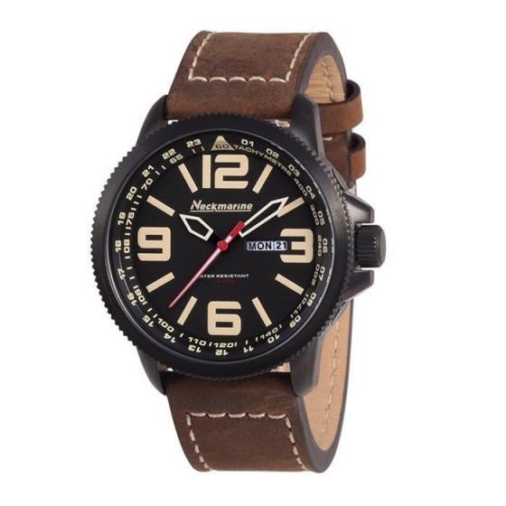 Reloj de caballero X-Plorer con correa de cuero y numeros en beige - 1