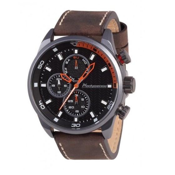 Reloj de caballero X-Plorer de aluminio, esfera negra y correa en piel - 1