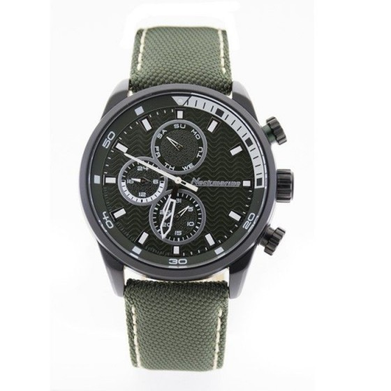 Reloj de caballero X-Plorer con caja de aluminio y correa de nylon verde - 1