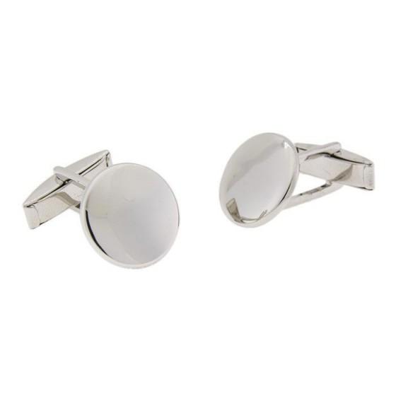 Gemelos en plata redondo liso - 1