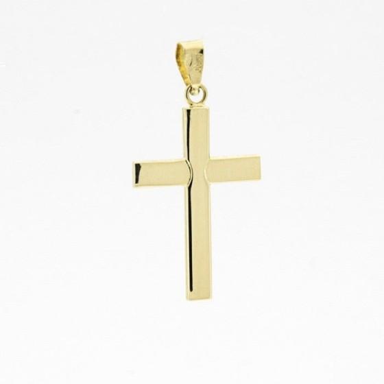 Cruz de oro lisa (2,70 cm) - 1