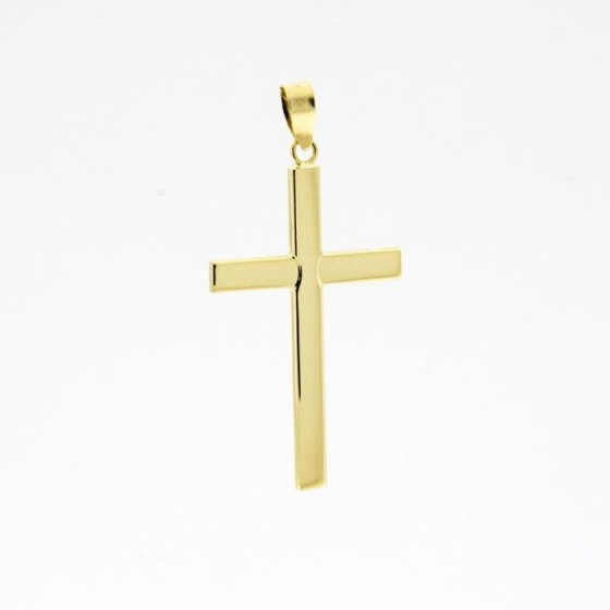 Cruz de oro lisa (3,70 cm) - 1