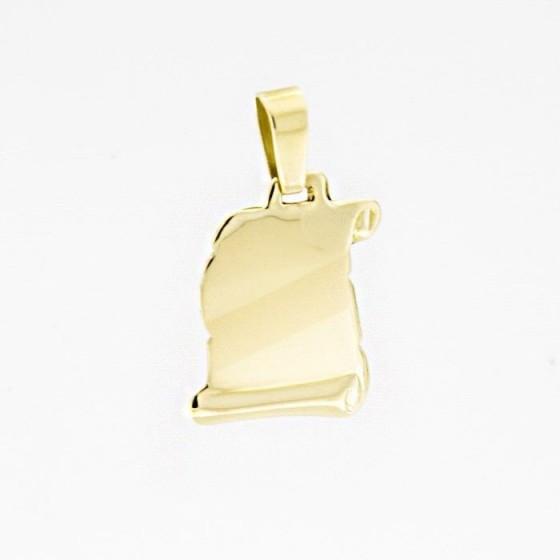 Chapa de oro en forma de pergamino - 1