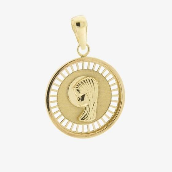 Medalla calada de la virgen niña (18 mm) - 1