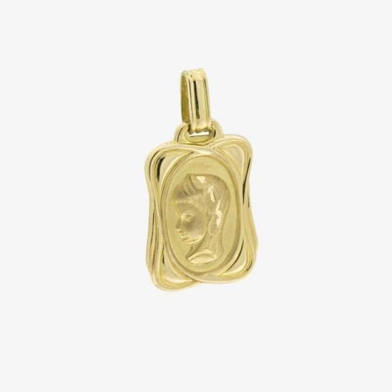 Medalla de forma cuadrada de la virgen niña - 1