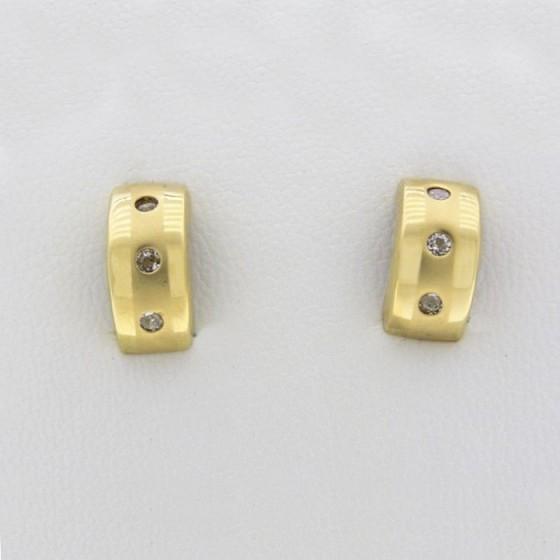 Pendientes oro amarillo brillo y mate - 1