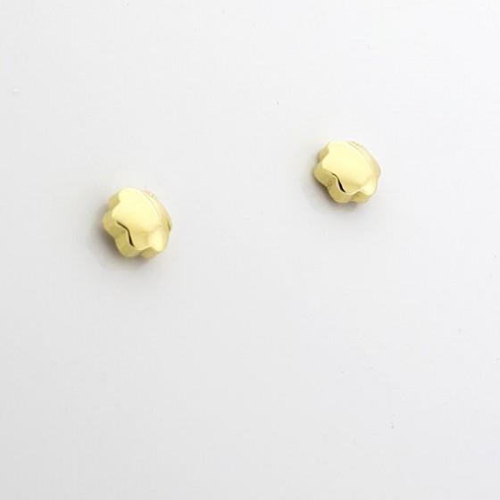 Pendientes para niña en oro con forma de estrella - 1