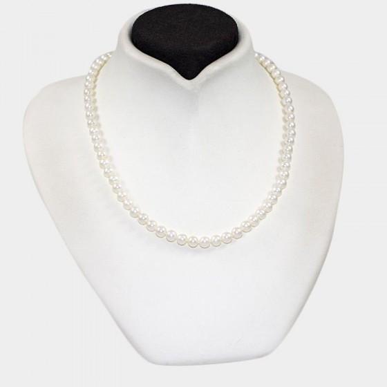 Collar de perlas cultivadas de 6 mm - 1