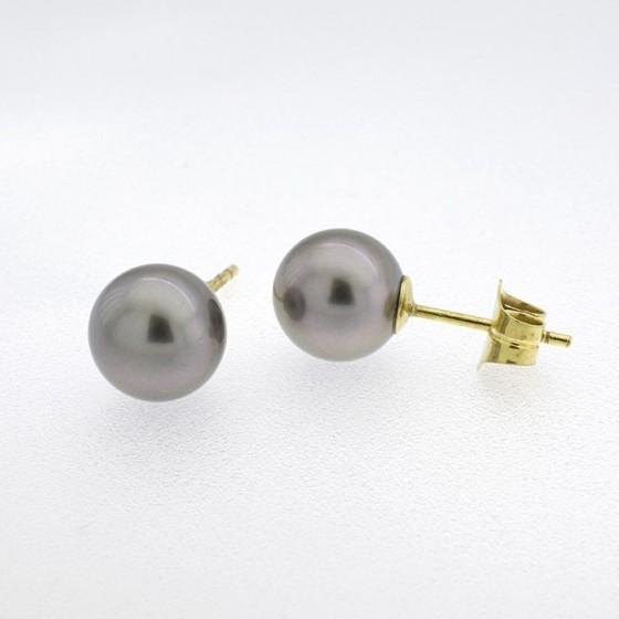 """Pendientes de perlas """"Tahiti"""" de 9 mm - 1"""