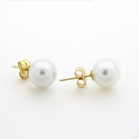 Pendientes de perlas de 11mm - 1
