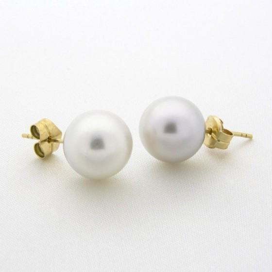 Pendientes de perlas de 13mm - 1