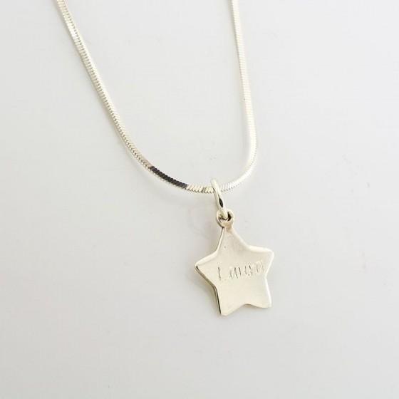 Colgante estrella lisa - 1