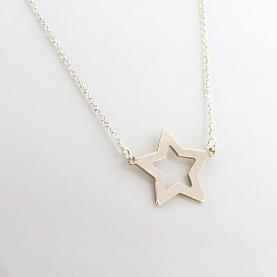 Colgante en plata con forma de estrella - 1