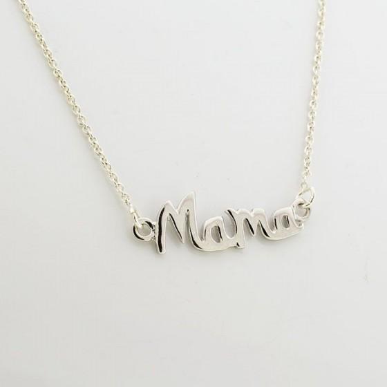 Colgante en plata con palabra mamá - 1