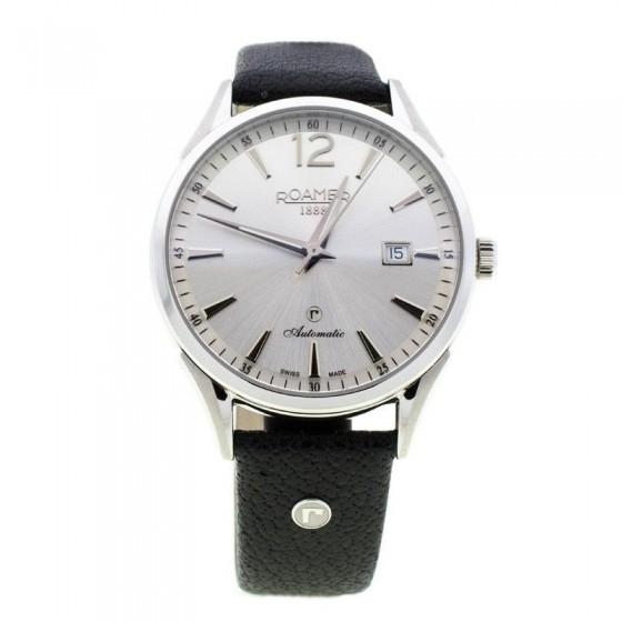 Reloj Swiss Matic en acero y cuero - 1