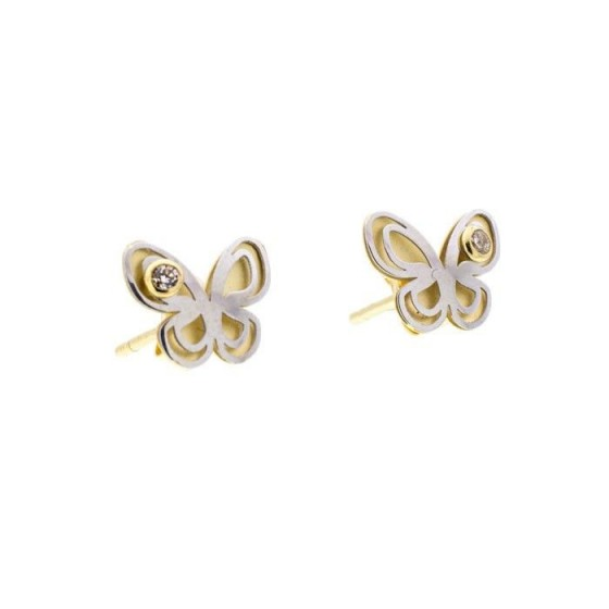Pendientes niña con forma de mariposa - 1