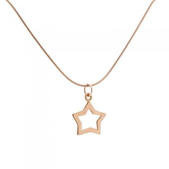 Collar estrella en plata y oro rosa - 1