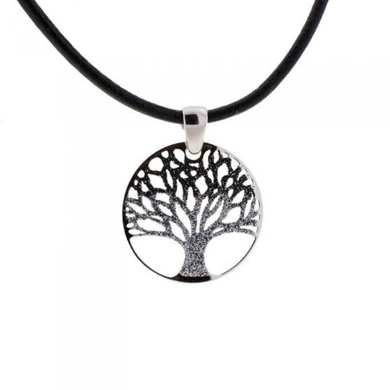 Colgante Árbol de la Vida de plata en tonos negros - 1