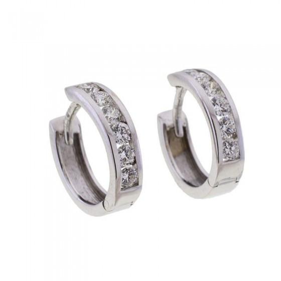 Pendientes con diamantes en carril - 1