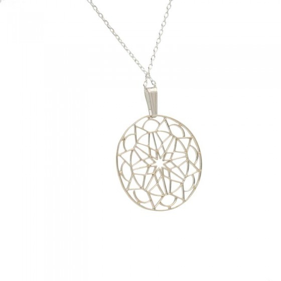 Colgante Mandala en Plata y forma redonda - 1