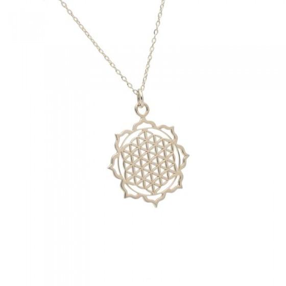 Colgante Mandala en Plata y forma oriental - 1