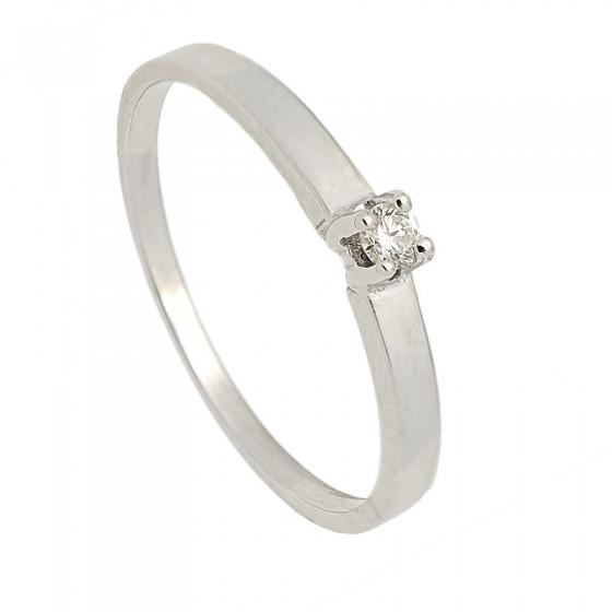 Sortija de oro blanco y diamante - 7510 - 1
