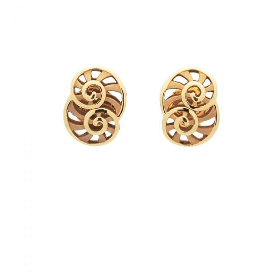 Pendientes con espirales de oro amarillo - 1